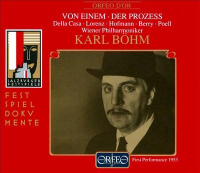 Gottfried von Einem: Der Prozess