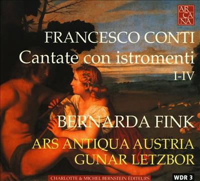Francesco Conti: Cantate con istromenti I - IV