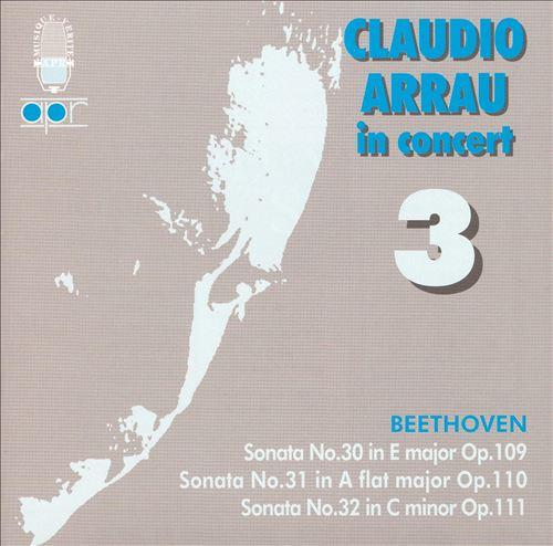 Claudio Arrau in Concert, Vol. 3