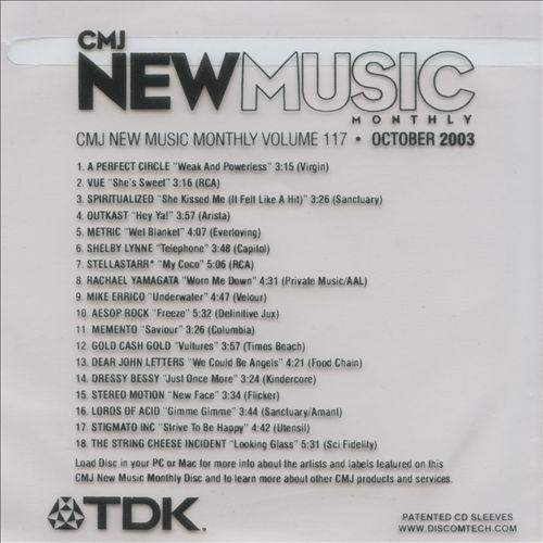 CMJ New Music, Vol. 117