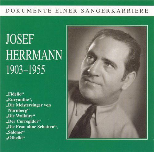 Dokumente einter Sängerkarriere: Josef Herrmann