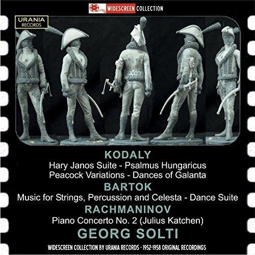 Kodaly: Hàry Jànos Suite; Psalmus Hungaricus; Peacock Variations; Dances of Galanta; Bartók: Music for Strings, Percussion and Celesta; Dance Suite; Rachaminov: Piano Concerto No. 2