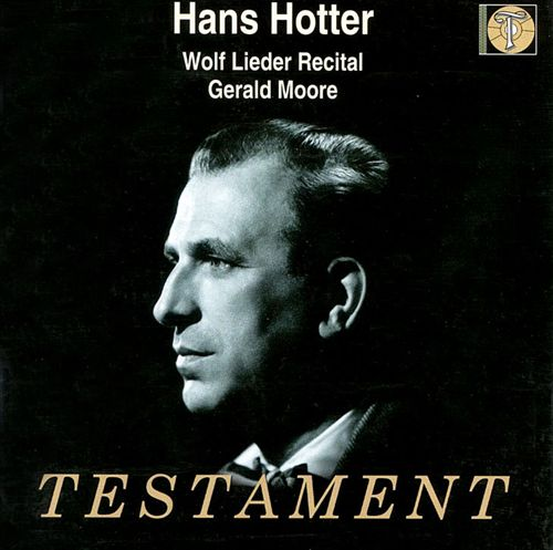 Hans Hotter Wolf Lieder Recital