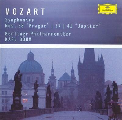 "Mozart: Symphonies Nos. 38 ""Prague"", 39 & 41 ""Jupiter"""