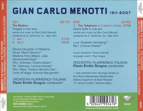 Menotti: The Medium; The Telephone