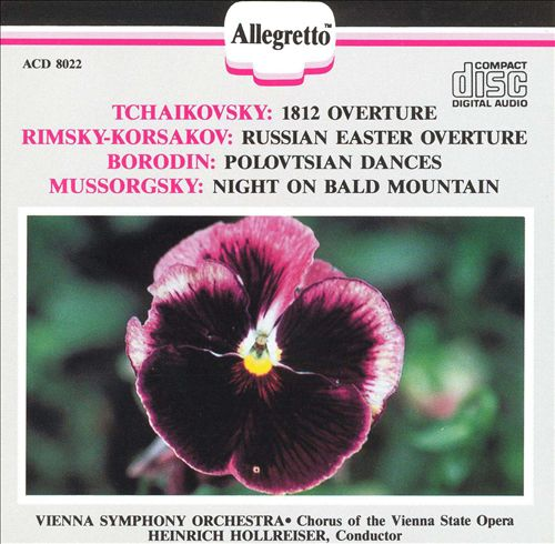 1812 Overture; Russian Easter Overture; Polovtsian Dances; Night on Bald Mountain