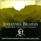 Brahms: Haydn Variations; Schumann Variations; Waltzes; piano 4-hands