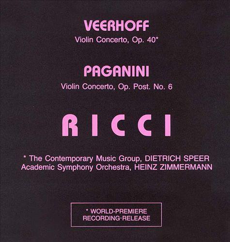 Veerhoff/Paganini: Violin Concertos