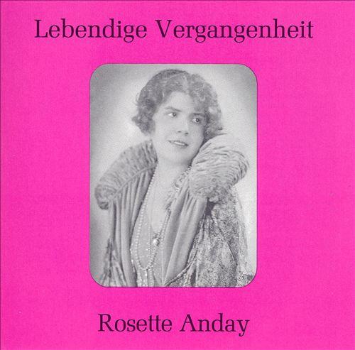 Lebendige Vergangenheit: Rosette Anday