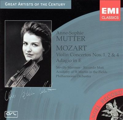 Mozart: Violin Concertos Nos. 1, 2 & 4; Adagio in E