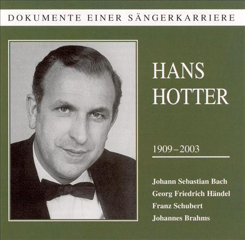 Dokumente einer Sängerkarriere: Hans Hotter