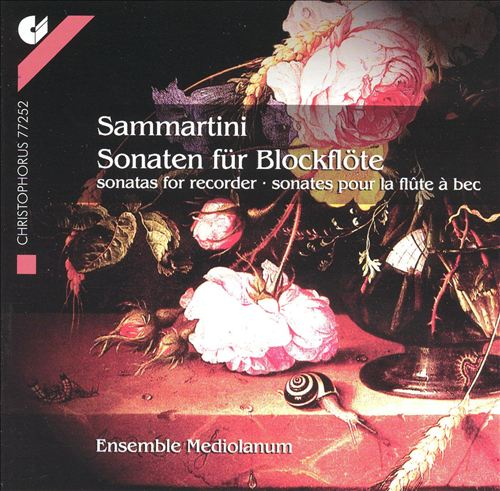 Sammartini: Sonatas for recorder