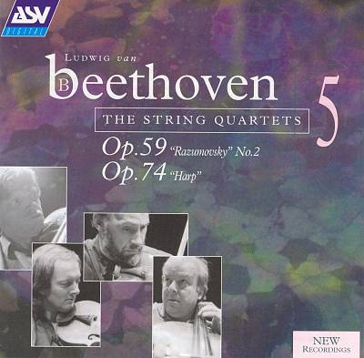 "Beethoven: The String Quartets, Vol. 5 - Op. 59 ""Razumovsky"" No. 2, Op. 74 ""Harp"""